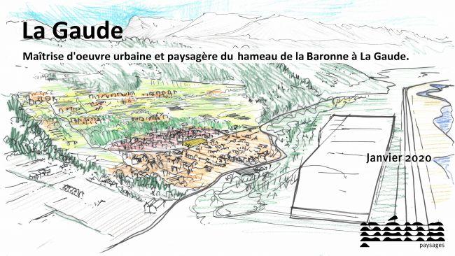 La Gaude - Maîtrise d'oeuvre urbaine et paysagère du hameau de la Baronne à La Gaude.